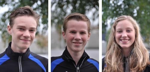 De gepromoveerden (v.l.n.r.) Wouter, Martijn en Merel