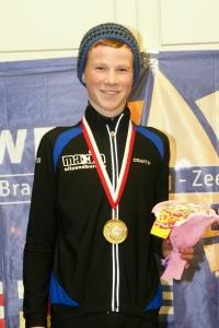 Martijn Weber gehuldigd als winnaar van marathoncompetitie (foto Jeroen Happel)