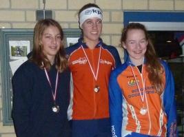 Sanne van Duijnhoven (links), tweede bij de meisjes C