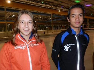 De gepromoveerden: Sanne van Duijnhoven en Julian Haans