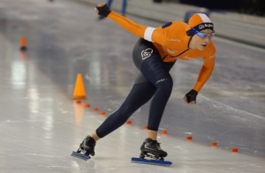 Sanne van Duijnhoven, tweede plaats bij Kampioenschap 1500 meter (foto Jeroen Happel)
